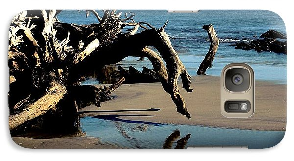 Galaxy Case featuring the photograph Hands Touching Hands by Irma BACKELANT GALLERIES