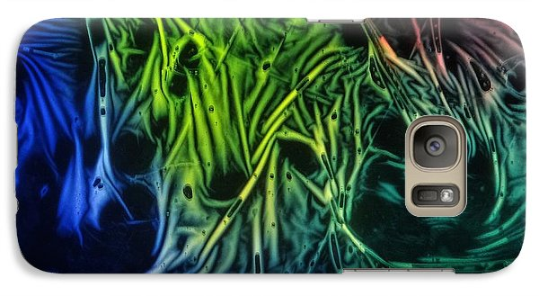 Galaxy Case featuring the photograph chemiluminescence photography Handprint by David Mckinney