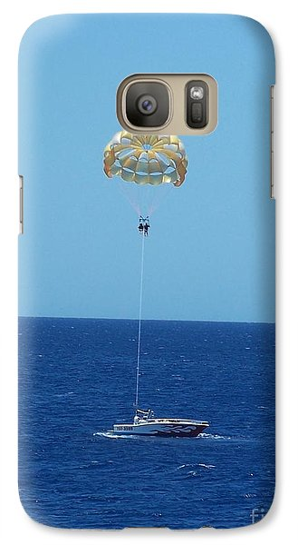Galaxy Case featuring the photograph Hang Gliding Fun by Brigitte Emme