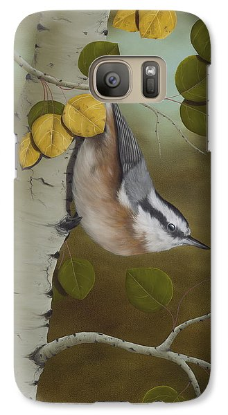 Hanging Around-red Breasted Nuthatch Galaxy S7 Case
