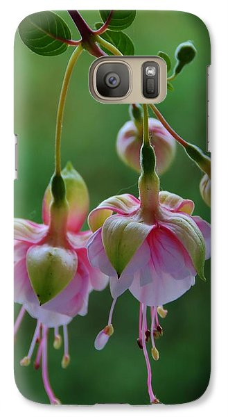 Galaxy Case featuring the photograph Hanging Fuschia by Debra Martz