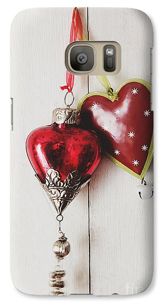 Galaxy Case featuring the photograph Hanging Ornaments On White Background by Sandra Cunningham