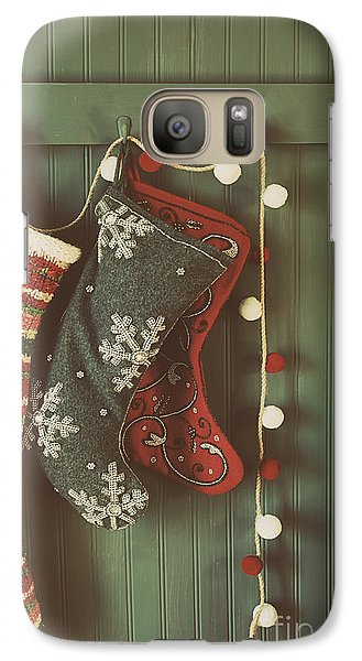 Galaxy Case featuring the photograph Hanging Stockings Ready For Christmas by Sandra Cunningham