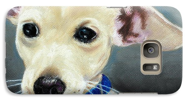 Galaxy Case featuring the painting Hank by Jeanne Fischer