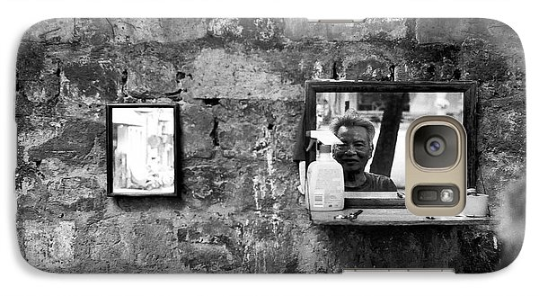 Galaxy Case featuring the photograph Hanoi Street Barber by Dean Harte