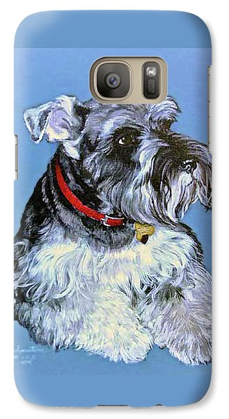 Galaxy Case featuring the painting Hans The Schnauzer Original Painting Forsale by Bob and Nadine Johnston
