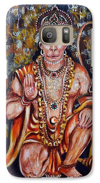 Galaxy Case featuring the painting Hanuman by Harsh Malik