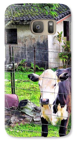Galaxy Case featuring the photograph Hanzawa Cow 1 by Dawn Eshelman