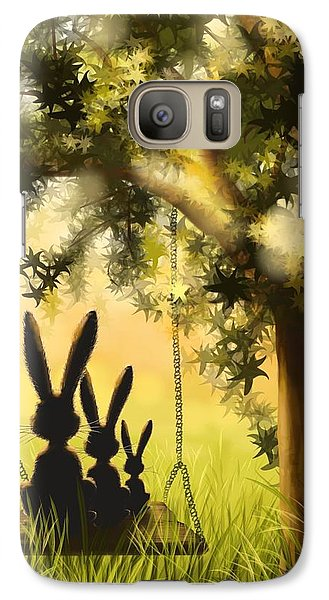 Happily Together Galaxy Case by Veronica Minozzi