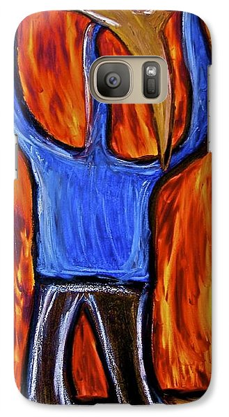 Galaxy Case featuring the painting Happiness 12-002 by Mario Perron