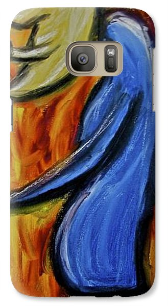 Galaxy Case featuring the painting Happiness 12-005 by Mario Perron