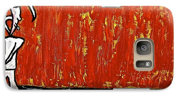 Galaxy Case featuring the painting Happiness 12-007 by Mario Perron