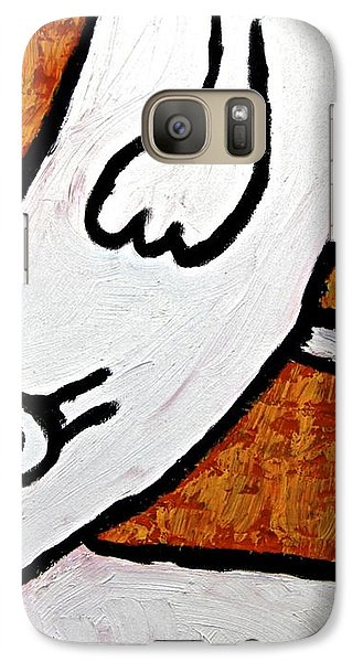 Galaxy Case featuring the painting Happiness 12-010 by Mario Perron