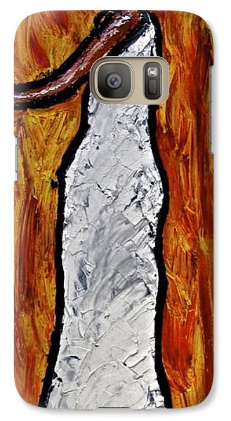 Galaxy Case featuring the painting Happiness 12-012 by Mario Perron
