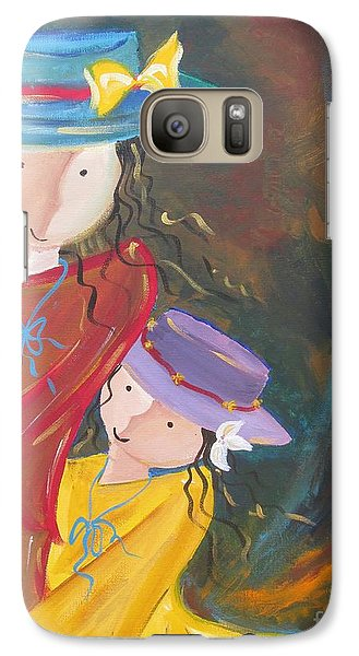 Galaxy Case featuring the painting Happiness by Nereida Rodriguez