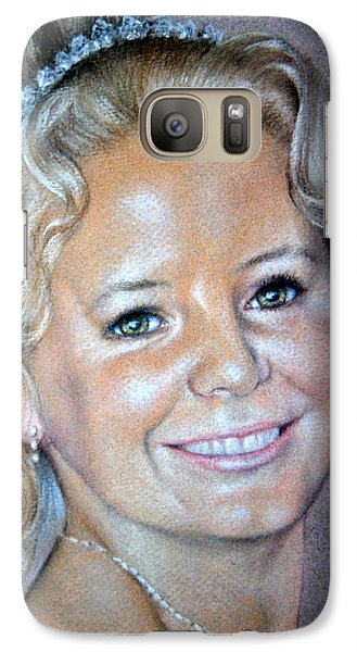 Galaxy Case featuring the painting Happiness by Rosemary Colyer