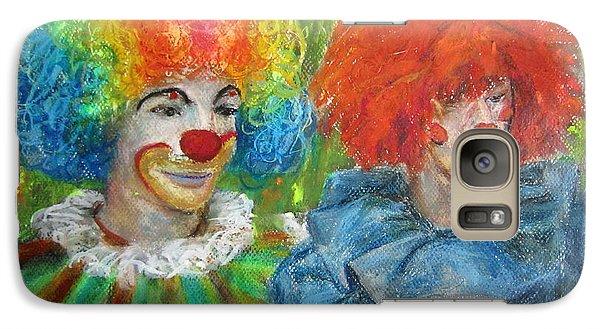 Galaxy Case featuring the painting Gemini Clowns by Jieming Wang