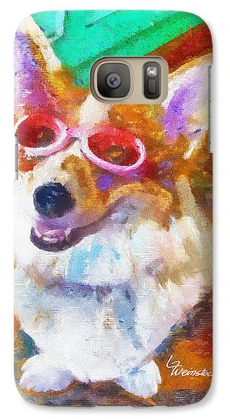 Galaxy Case featuring the painting Alameda Happy Little Cancer Survivor  by Linda Weinstock