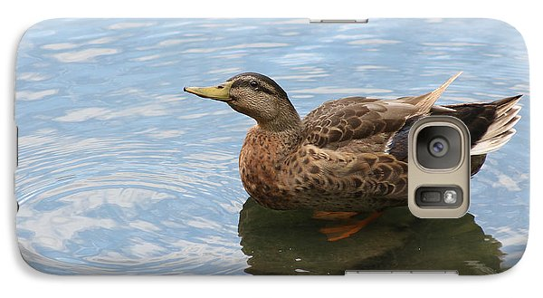Galaxy Case featuring the photograph Happy Duck by Jeanne Kay Juhos