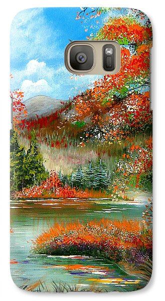 Galaxy Case featuring the painting Happy Ever After Autumn  by Patrice Torrillo