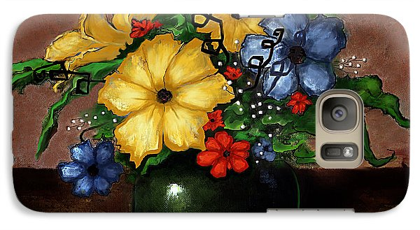 Galaxy Case featuring the painting Happy Flowers by Terry Webb Harshman