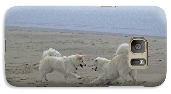 Galaxy Case featuring the photograph Happy Girls Beach Side by Fiona Kennard