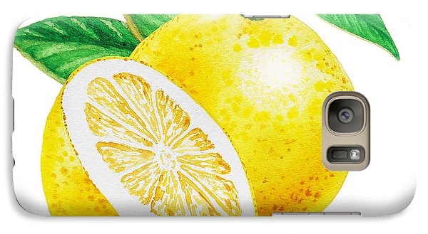 Galaxy Case featuring the painting Happy Grapefruit- Irina Sztukowski by Irina Sztukowski