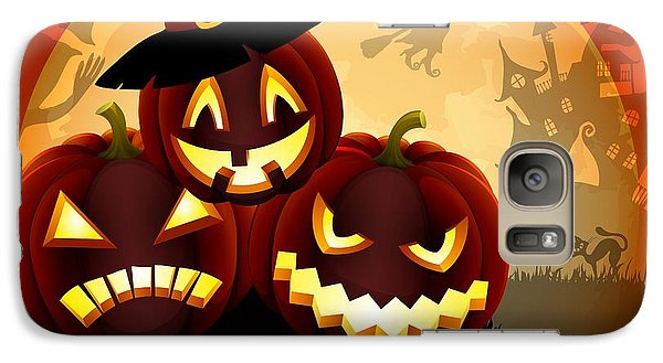 Galaxy Case featuring the painting Happy Halloween by Gianfranco Weiss