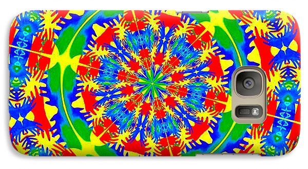 Galaxy Case featuring the photograph Happy Hands Mandala by Linda Weinstock