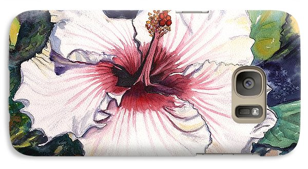 Galaxy Case featuring the painting Happy Hawaiian Hibiscus by Marionette Taboniar