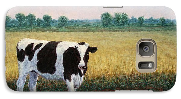 Cow Galaxy S7 Case - Happy Holstein by James W Johnson