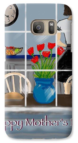 Galaxy Case featuring the digital art Happy Homemaker by Christine Fournier