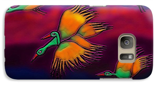 Galaxy Case featuring the digital art Happy Journey by Latha Gokuldas Panicker