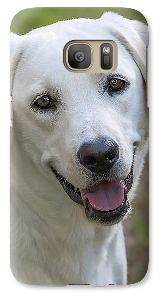 Galaxy Case featuring the photograph Happy Lab by Stephen Anderson