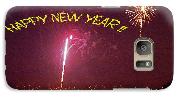 Galaxy Case featuring the photograph happy New Year fireworks by Gary Brandes
