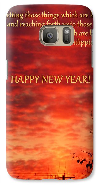 Galaxy Case featuring the photograph Happy New Year Sunset by Cindy Wright