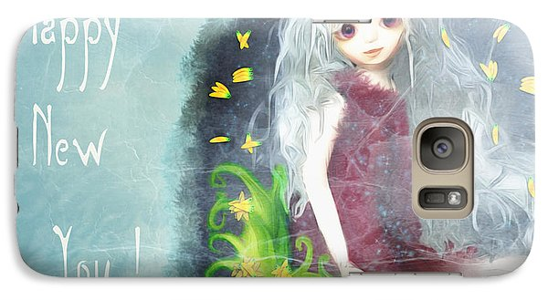 Galaxy Case featuring the digital art Happy New You by Barbara Orenya