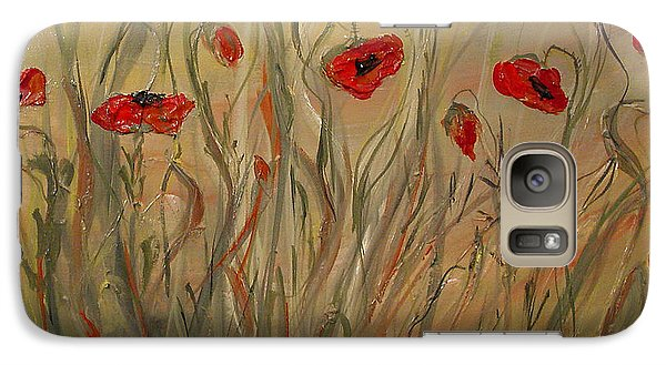 Galaxy Case featuring the painting Happy Poppies by Dorothy Maier