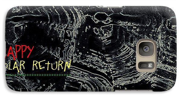 Galaxy Case featuring the digital art Happy Solar Return 470 by Cleaster Cotton