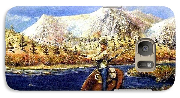 Galaxy Case featuring the painting Happy Trails by Bernadette Krupa