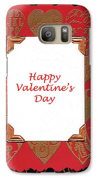 Galaxy Case featuring the photograph Happy Valentines Day Card by Vizual Studio
