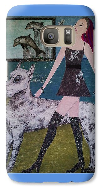Galaxy Case featuring the painting Happy Walk By Jasna Gopic by Jasna Gopic