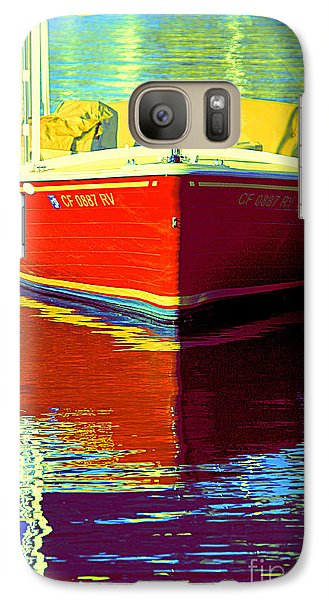 Galaxy Case featuring the photograph Harbor Boatin by Joanne Coyle