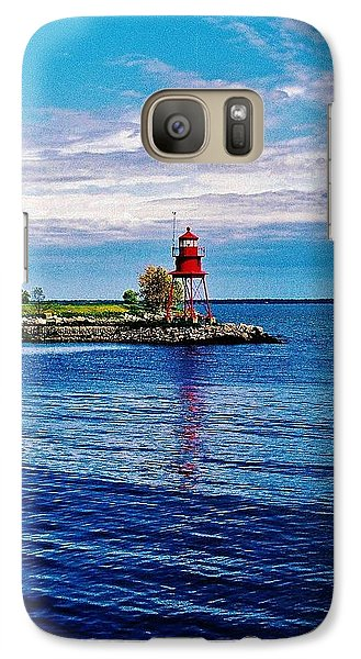 Galaxy Case featuring the photograph Harbor Light by Daniel Thompson