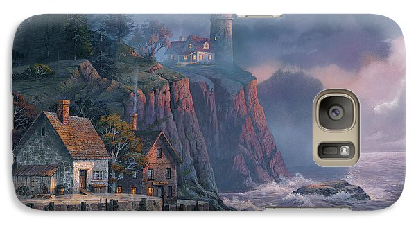 Galaxy Case featuring the painting Harbor Light Hideaway by Michael Humphries