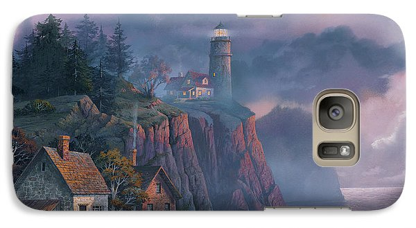 Galaxy S7 Case - Harbor Light Hideaway by Michael Humphries