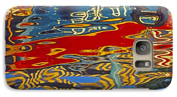 Galaxy Case featuring the photograph Harbor Reflections by Dennis Cox WorldViews