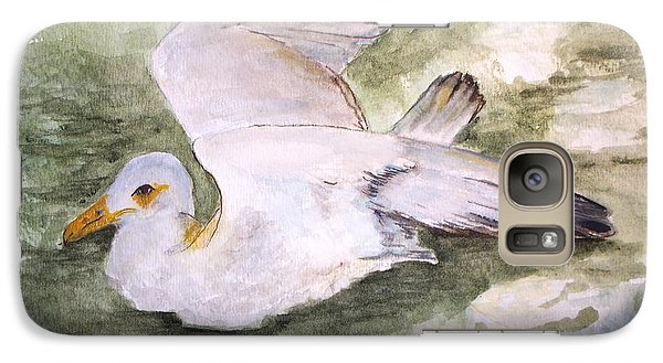 Galaxy Case featuring the painting Harbor Sea Gull by Carol Grimes