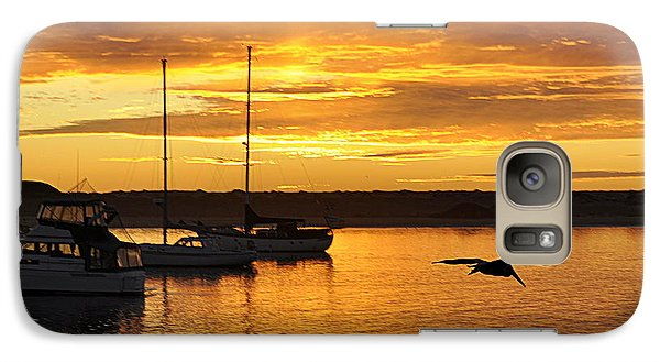 Galaxy Case featuring the photograph Harbor Sunset by AJ  Schibig