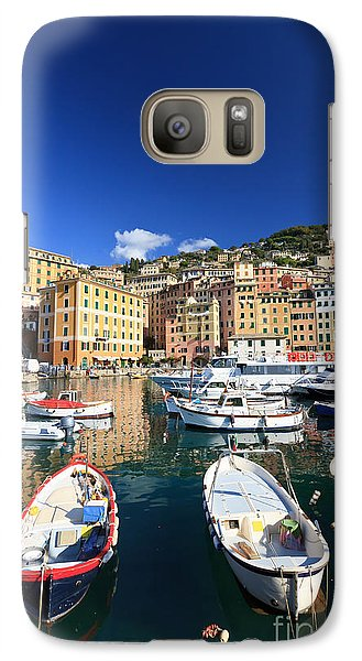 Galaxy Case featuring the photograph Harbor With Fishing Boats by Antonio Scarpi